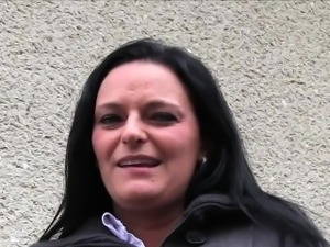 Busty Milf has sex with stranger in public