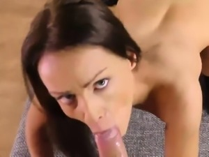 Piss wet Sophie Lynx humping and sucking dick