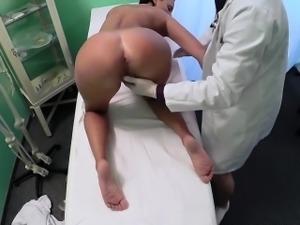 Busty dark haired mom banged in fake hospital