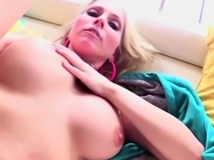 Blonde and fresh Christie Stevens gets her pussy fucked