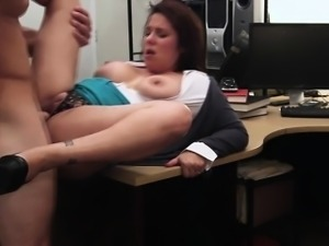 Hot brunette woman gets fucked for cash
