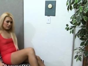 Classy blonde tgirl jizz