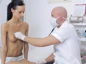 Skinny Slut Martina Gets Felt Up By Doctor