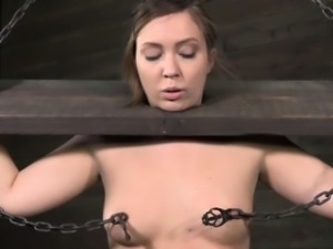BDSM humiliation session for restrained