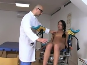 Teenie Nataly Gold got her ass examined by hard cock