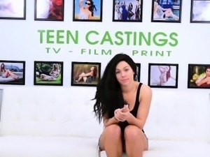 Brunette is used and abused during model casting