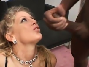 American wife fucked by two big black guys