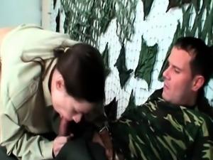 Soldier fucks a nice czech bitch pussy