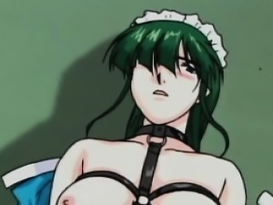 Tied up hentai maid gets fucked rough