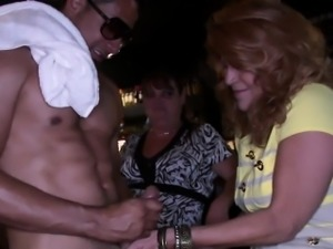 My gfs sloppy blowjob for stripper at party