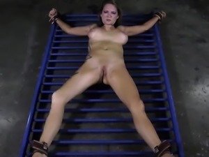 Busty hotty loves getting pussy torment