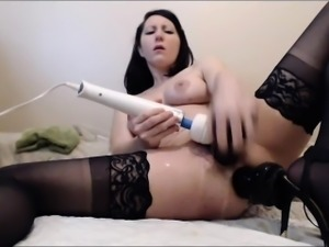 sexycams69.net - Milf Squirting From Double Penetration