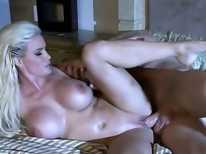 Diamond Foxxx is a blonde with huge tits and a nice ass. She is in the...