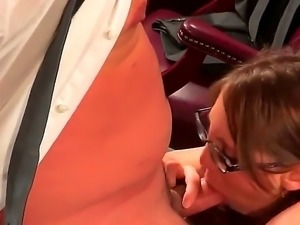 Nothing better than a nasty sex in office. Slutty long haired chick with...