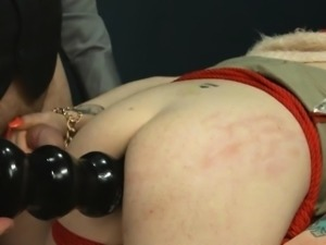 BDSM hardcore action with ropes and extreme copulate
