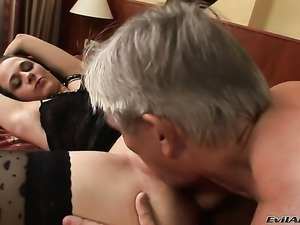 Terry C opens her mouth invitingly in cock sucking action with Christoph...