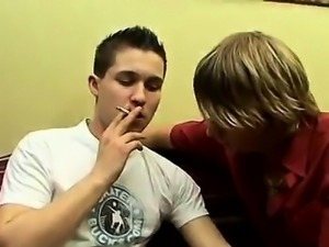 Hot gay blond male pubic hair sex Euro smokers Jerry and Son
