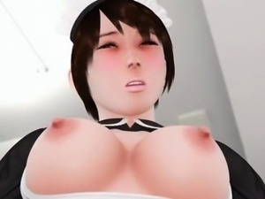 Hentai anime maiden pussy fingered gives blowjob