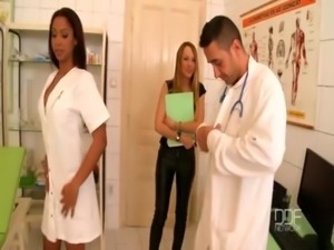 Blue Angel and Katia de Lys have a wild threesome at the clinic free