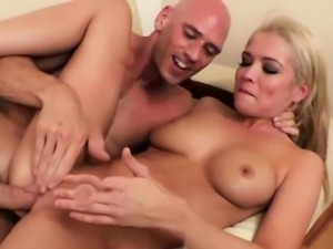Squirting babe gagging over cock