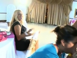 Beauty and her best ally get fucked at a bachelorette party.