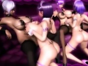 3D Futanari Twins Cum on Busty Teens!