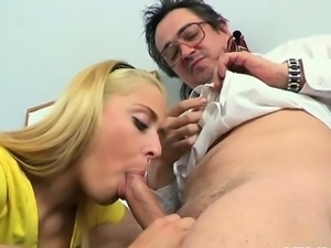 Older teacher is subduing youthful babe\'s wild beaver