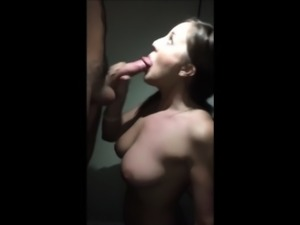 Hot cheating wife blowing his cock to orgasm
