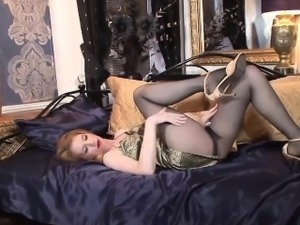 Hot lady in sexy pantyhose.