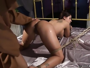 Blonde gal Angel Rivas cant wait to be poked by her hot sex partner