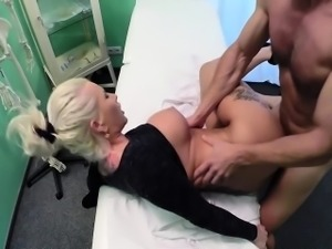 Blond busty porn star fucked doctor