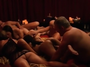 Group of swingers nasty game and orgy in Swinger mansion