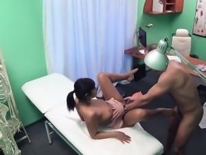 Doctor fucks his old brunette friend