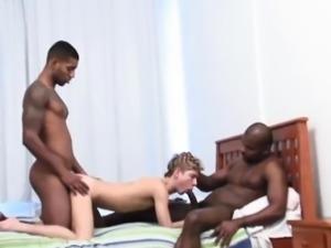 Alonzo and Romulo dicks feeding with Riu