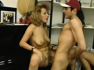 naughty-hotties.net - Lucky guy and 2 busty milfs