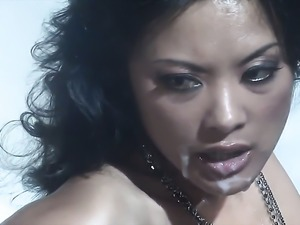 Kaylani Lei enjoys dudes meaty rock hard worm in her juicy mouth