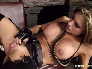 Danny D uses his throbbing rod to make blowjob addict Esperanza Gomez with...