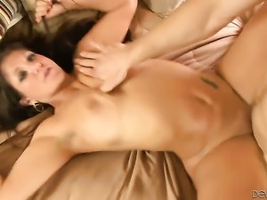 Coralyn Jewel with big knockers groans in fucking ecstasy