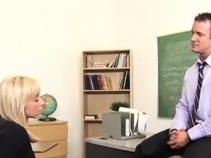 Perverted teacher makes a schoolgirl suck and ride his knob