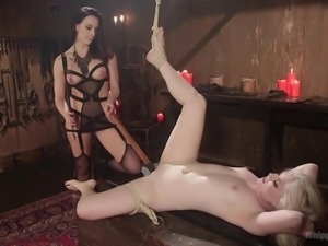 mistress chanel preston punishes slave in erotic way