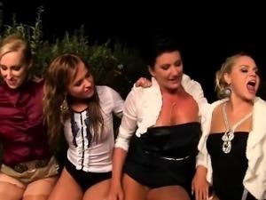Bitch facial piss orgy
