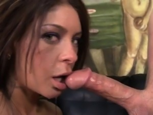 Nasty Hoe Brook Ultra Swallows A Huge Cock