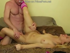 Teen blonde fucked after school