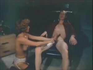John Holmes gets his HUGE dick sucked by mature