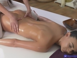 will this sexy massage lead to hot lesbian sex?
