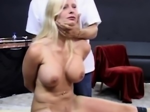 Bondage playground with big boobs and buttocks blonde