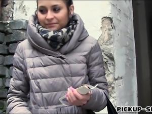 Czech babe banged by pervert stranger for some money