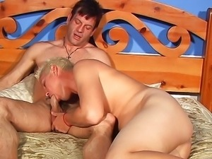 Lynn Lemay fucks with Larry Boles and Damien Ford