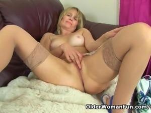 British milf janey puts her dildos to work - 3 part 1