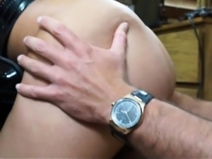 Latina police officer gives head and banged by pawn guy